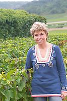 Eva Reh Siddle, owner. Domaine Bertagna, Vougeot, Cote de Nuits, d'Or, Burgundy, France