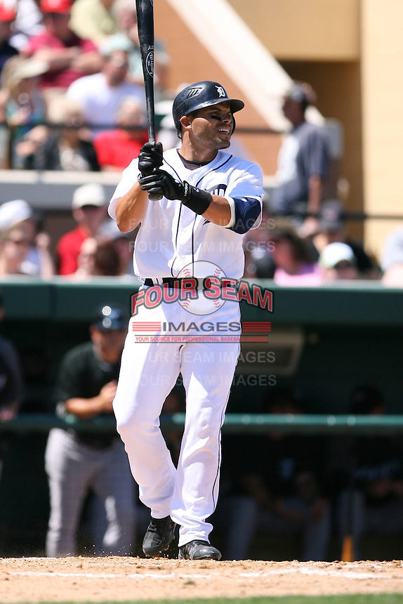 March 21st 2008:  Ivan Rodriguez of the Detroit Tigers during Spring Training at Joker Marchant Stadium in Lakeland, FL.  Photo by:  Mike Janes/Four Seam Images