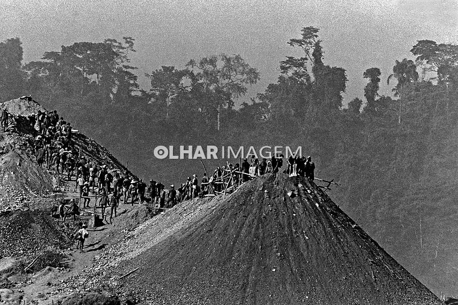 Garimpo de ouro Serra Pelada. Para. 1980. Foto de Juca Martins.