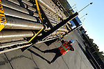 Sample images of a pipe loadout for a New Orleans based trucking firm.