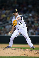Charlotte Knights relief pitcher Daniel Webb (40) in action against the Chicago White Sox at BB&T Ballpark on April 3, 2015 in Charlotte, North Carolina.  The Knights defeated the White Sox 10-2.  (Brian Westerholt/Four Seam Images)