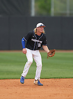 IMG Academy Ascenders Black shortstop Jackson Werth (16) during the IMG National Classic on March 29, 2021 at IMG Academy in Bradenton, Florida.  (Mike Janes/Four Seam Images)