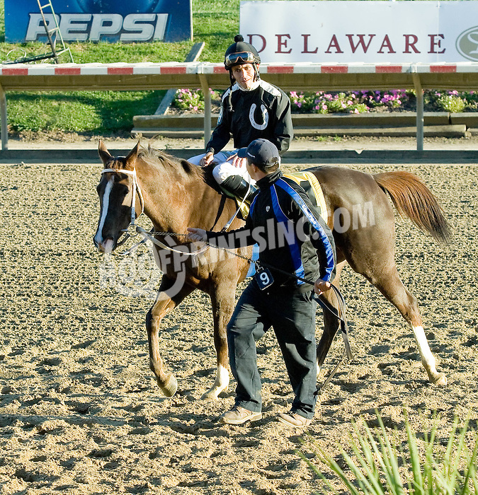 Uncorked winning The Stakes that never was at Delaware Park on 11/1/10