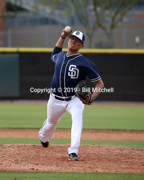 Martin Carrasco - San Diego Padres 2019 spring training (Bill Mitchell)
