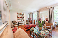 BNPS.co.uk (01202) 558833<br /> Pic: BHHSLondon/BNPS<br /> <br /> Fancy being neighbours with Claudia Winkleman and Tony Blair?<br /> <br /> An elegant apartment in a prestigious London street that attracts high profile names is on the market for £2.35m.<br /> <br /> The Grade II listed three-bedroom flat is in Westminster's Connaught Square, where properties rarely come up for sale.<br /> <br /> Despite its central location, close to Hyde Park, the square has a village feel and a communal garden for residents where they hold an exclusive summer party every year - so the new owner could rub shoulders with the Strictly Come Dancing presenter and the former Prime Minister there.