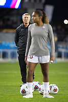 Stanford, CA - December 8, 2019: Paul Ratcliffe, Catarina Macario at Avaya Stadium. The Stanford Cardinal won their 3rd National Championship, defeating the UNC Tar Heels 5-4 in PKs after the teams drew at 0-0.