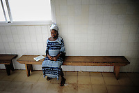 Isattu Jalloh, 11, is 7 months pregnant. She was raped by her uncle in her village near Lunsar, Sierra Leone. In the catholic hospital St John of God she is waiting for her examination.