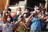 15th September 2020; Lyon, France; Tour De France 2020, La Tour-du-Pin to Villard-de-Lans, stage 16; The Crowd strictly wearing masks due to the covid-19 pandemic