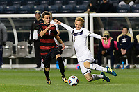 Chester, PA - Friday December 08, 2017: Jared Gilbey, Skye HarterJared Gilbey, Skye Harter The Stanford Cardinal defeated the Akron Zips 2-0 during an NCAA Men's College Cup semifinal match at Talen Energy Stadium.