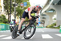 29th August 2021; Tokyo, Japan; George Peasgood (GBR),<br /> Triathlon : <br /> Men's  PTS5<br /> during the Tokyo 2020 Paralympic Games at the Odaiba Marine Park in Tokyo, Japan. <br /> (Photo by Yohei Osada/AFLO SPORT)