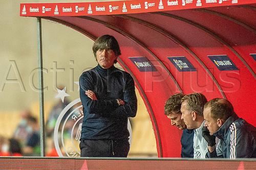 17th November 2020;  Estadio La Cartuja de Sevilla, Seville, Spain; UEFA Nations League Football, Spain versus Germany;   Joachim Loew, Bundestrainer (ger) looks on frustrated as his team lag behind