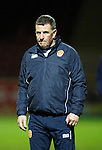 Motherwell v St Johnstone..30.12.15  SPFL  Fir Park, Motherwell<br /> Motherwell manager Mark McGhee<br /> Picture by Graeme Hart.<br /> Copyright Perthshire Picture Agency<br /> Tel: 01738 623350  Mobile: 07990 594431