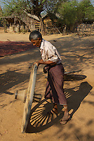 Traditional Minnanthu Village near Bagan, Myanmar/Burma