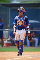 GCL Mets catcher Juan Uriarte (17) during a game against the GCL Marlins on August 12, 2016 at St. Lucie Sports Complex in St. Lucie, Florida.  GCL Marlins defeated GCL Mets 8-1.  (Mike Janes/Four Seam Images)