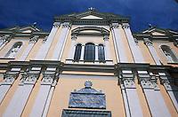 Europe/France/Corse/2B/Haute-Corse/Cap Corse/Bastia: La citadelle - Détail façade de la cathédrale Sainte-Marie (XVIIème siècle)