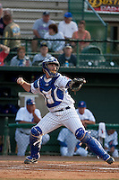 April 28 2010: Michael Brenly (18) of the Daytona Beach Cubs during a game vs. the the Lakeland Flying Tigers at Jackie Robinson Ballpark in Daytona Beach, Florida. Daytona, the Florida State League High-A affiliate of the Chicago Cubs, lost the game against Lakeland, affiliate of the Detroit Tigers, by the score of 5-3  Photo By Scott Jontes/Four Seam Images