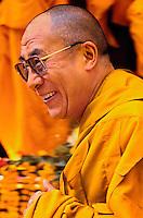 The Dalai Lama. At the Kalachakra, Sarnath, India