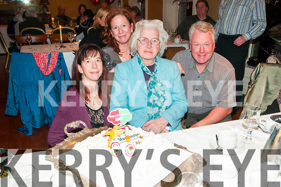 80th Birthday party: Lucy O'Connell, Listowel celebrating her 80th birthday with her family Collette, Deidre & Billy at the Listowel Arms Hotel on Sunday afternoon last.