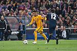Atletico de Madrid's Augusto Fernandez and FC Barcelona Neymar during Champions League 2015/2016 Quarter-Finals 2nd leg match. April 13, 2016. (ALTERPHOTOS/BorjaB.Hojas)