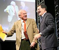 Roma 11 02 2006 Unione:Presentazione del Programma 2006-2011<br /> Nella foto il segretario di Rifondazione Comunista Fausto Bertinotti e il leader dell'Unione Romano Prodi<br /> Photo Serena Cremaschi Insidefoto