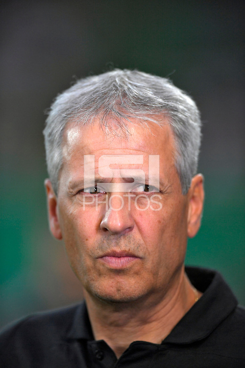 20.08.2018, Football DFB Pokal 2018/2019, 1. round, SpVgg Greuther Fuerth - Borussia Dortmund, Sportpark Ronhof in Fuerth. Trainer Lucien Favre (Dortmund) .<br /><br /><br />***DFB rules prohibit use in MMS Services via handheld devices until two hours after a match and any usage on internet or online media simulating video foodaye during the match.*** *** Local Caption *** © pixathlon<br /> <br /> Contact: +49-40-22 63 02 60 , info@pixathlon.de