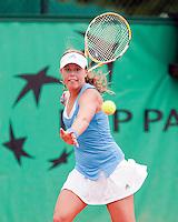 27-5-09, France, Paris, Tennis, Roland Garros,  Michelle Larcher de Brito (net 16 lentes) de pupil van Nick Bollietteiri, die haar zijn grootste talent ooit noemt haalde de derde ronde in Parijs