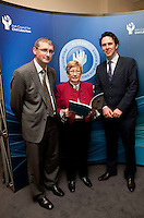 """**** NO FEE PIC***.12/04/2012 .Dr. Shane Kilcommins UCC,.Gillian Hussey Chair of Crime Victims Helpline.Prof Anthony Pemberton International Victimology Institute Tilburg.during a conference on the """"The EU Directive on Victims Rights: Opportunities and Challenges for Ireland"""" hosted by the the Irish Council for Civil Liberties (ICCL) in Dublin Castle..Photo: Gareth Chaney Collins"""