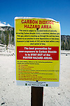 CARBON DIOXIDE HAZARD AREA SIGN<br />