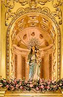 Maria in der Kirche Santo Domingo der  Bruderschaft Paso Blanco bei  der Semana Santa (Karwoche) in Lorca,  Provinz Murcia, Spanien, Europa
