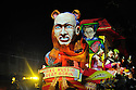 The Krewe D'Etat parade and its satirical float The Russian Bear rolls in New Orleans on Friday, Feb. 24, 2017. (AFP/CHERYL GERBER)