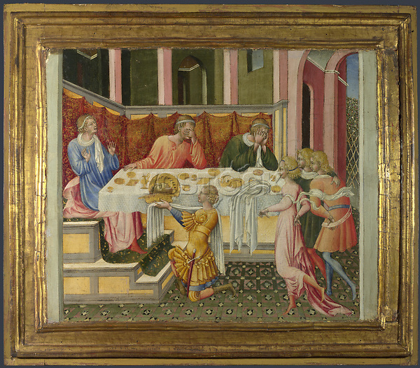 Full title: The Head of John the Baptist brought to Herod<br /> Artist: Giovanni di Paolo<br /> Date made: 1454