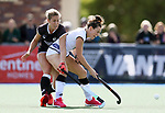 Kelsey Smith of South (R) competes with Rose Keddell during the Women's North v South hockey match, St Pauls Collegiate, Hamilton, New Zealand. Saturday 17 April 2021 Photo: Simon Watts/www.bwmedia.co.nz