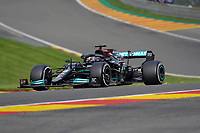 27th August 2021; Spa Francorchamps, Stavelot, Belgium: FIA F1 Grand Prix of Belgium, free practise:  Lewis Hamilton GBR 44, Mercedes-AMG Petronas Formula One Team