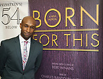 """Donald Webber Jr. backstage after a Song preview performance of the Bebe Winans Broadway Bound Musical """"Born For This"""" at Feinstein's 54 Below on November 5, 2018 in New York City."""