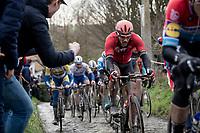 Philippe Gilbert (BEL/Lotto-Soudal) up the Molenberg<br /> <br /> 75th Omloop Het Nieuwsblad 2020 (1.UWT)<br /> Gent to Ninove (BEL): 200km<br /> <br /> ©kramon