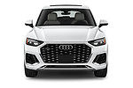 Car photography straight front view of a 2021 Audi Q5-Sportback Premium 5 Door SUV Front View