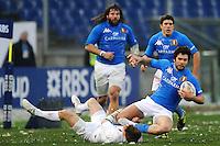 """Dave Strettle England, Luke McLean Italia.Roma 11/20/2012 Stadio """"Olimpico"""".Rugby 6 Nations Tournament - Torneo delle 6 Nazioni 2012.Italia Vs Inghilterra - Italy Vs England .Foto Insidefoto Andrea Staccioli"""
