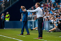 Kansas City, KS - Wednesday August 9, 2017: Chris Leitch during a Lamar Hunt U.S. Open Cup Semifinal match between Sporting Kansas City and the San Jose Earthquakes at Children's Mercy Park.