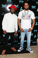 MIAMI, FL - FEBRUARY 19:  P-Reala & KT attend Floyd Mayweather's 44th futuristic Birthday Party at Casablanca on the Bay on February 19, 2021 in Miami, Florida. Photo Credit: Walik Goshorn/Mediapunch