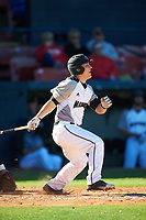 Wisconsin-Milwaukee Panthers catcher Daulton Varsho (10) at bat during a game against the Bethune-Cookman Wildcats on February 26, 2016 at Chain of Lakes Stadium in Winter Haven, Florida.  Wisconsin-Milwaukee defeated Bethune-Cookman 11-0.  (Mike Janes/Four Seam Images)