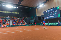 The Hague, The Netherlands, September 17, 2017,  Sportcampus , Davis Cup Netherlands - Chech Republic, Fifth match : Thiemo de Bakker (NED)<br /> Photo: Tennisimages/Henk Koster