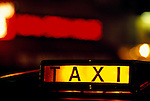 London taxi for hire sign. London Uk 1990s