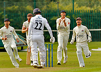 21st September 2021; Aigburth, Merseyside, England; County Championship Cricket, Lancashire versus Hampshire, Day 1;  First wicket to Lancashire as Tom Bailey has Ian Hollandof Hampshire caught by Dane Vilas with just a single run on the board