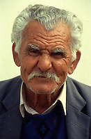 Cyprus. Portrait of an old Cypriot man..Model Released.