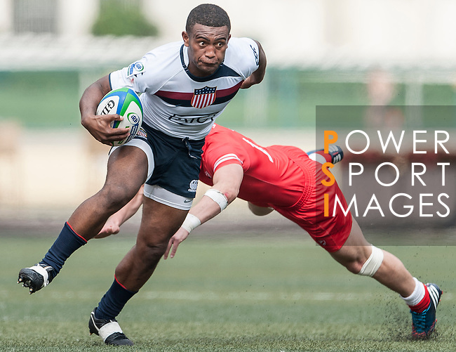 USA vs Georgia during the Day 2 of the IRB Junior World Rugby Trophy 2014 at the Hong Kong Football Club on April 11, 2014 in Hong Kong, China. Photo by Xaume Olleros / Power Sport Images