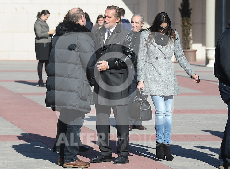 Malaga's coach Bernd Schuster during the funeral ceremony in memory of the national soccer team coach Luis Aragones. February 2, 2014. (ALTERPHOTOS/S.Lopez)