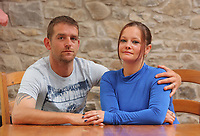 Pictured: Julie Barnett with partner Phillip<br /> Re: Julie Barnett has spoken about being sexually assaulted by lottery winner David Dyas in Wales, UK