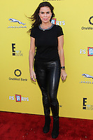 SANTA MONICA, CA, USA - NOVEMBER 16: Rosa Blasi arrives at the P.S. ARTS Express Yourself 2014 held at The Barker Hanger on November 16, 2014 in Santa Monica, California, United States. (Photo by Celebrity Monitor)