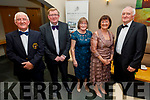 Richard Kelter, Tom Dillon, Rose Burke, Camille Ryan and James Kelter attending the Fenit Lifeboats 25th Anniversary Black Tie Charity Ball in Ballyroe Heights Hotel on Saturday.