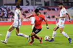 Hwang Heechan of South Korea (C) in action during the AFC Asian Cup UAE 2019 Round of 16 match between South Korea (KOR) and Bahrain (BHR) at Rashid Stadium on 22 January 2019 in Dubai, United Arab Emirates. Photo by Marcio Rodrigo Machado / Power Sport Images